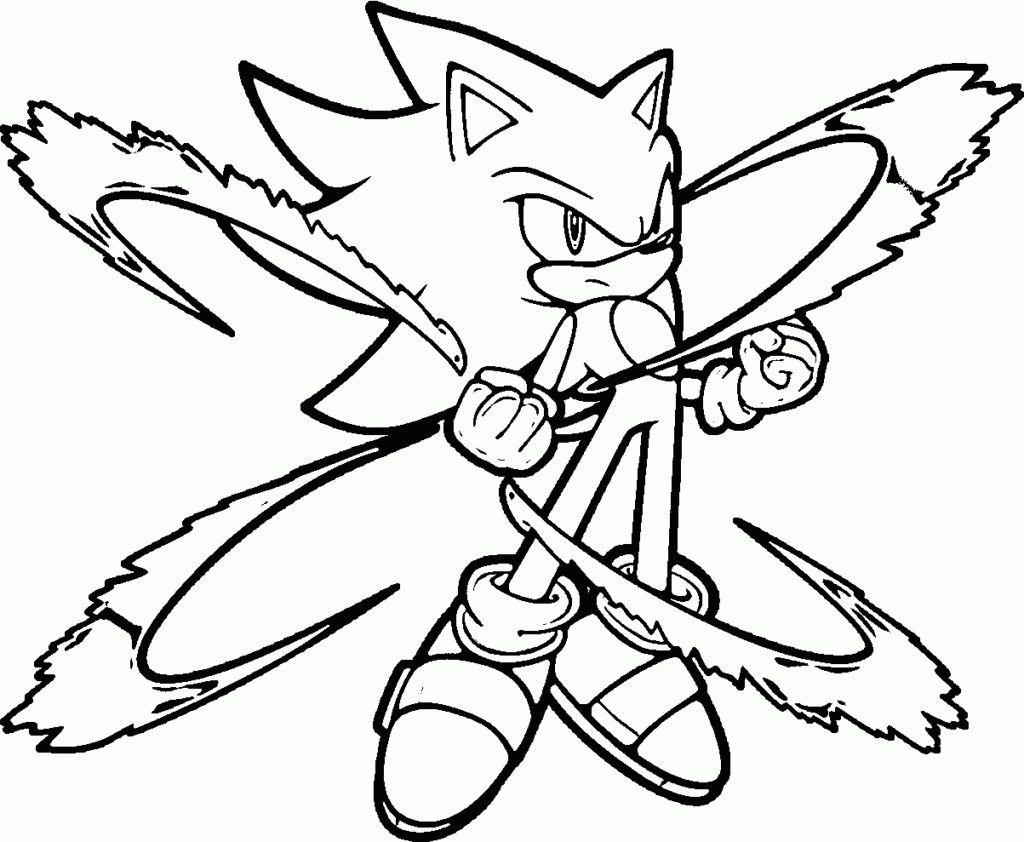 printable sonic the hedgehog characters coloring pages