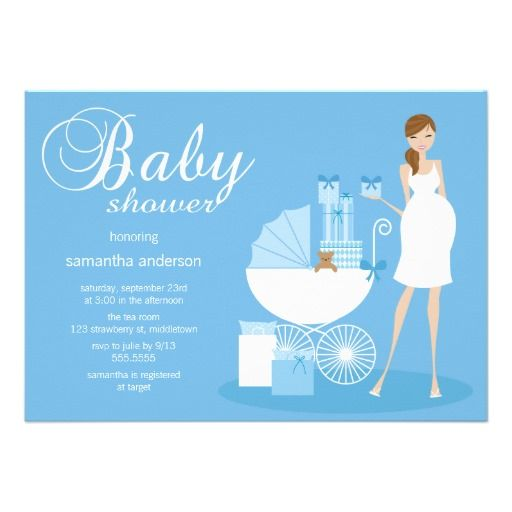 Chic Woman Baby Shower Invitation - Boy
