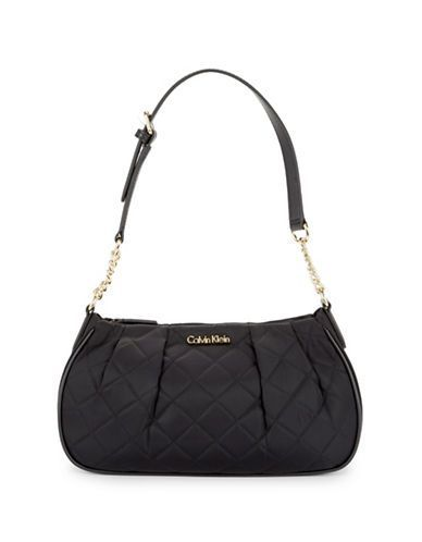 Calvin Klein Quilted Shoulder Bag Women's Black