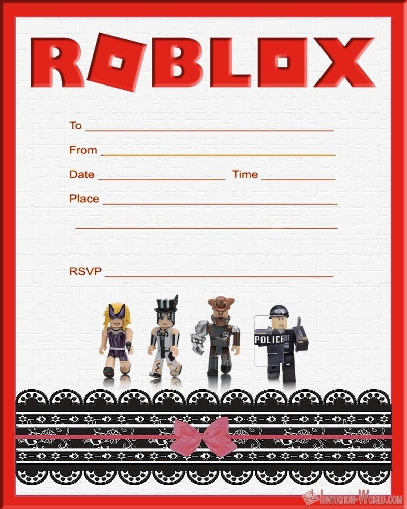 roblox birthday party invitations