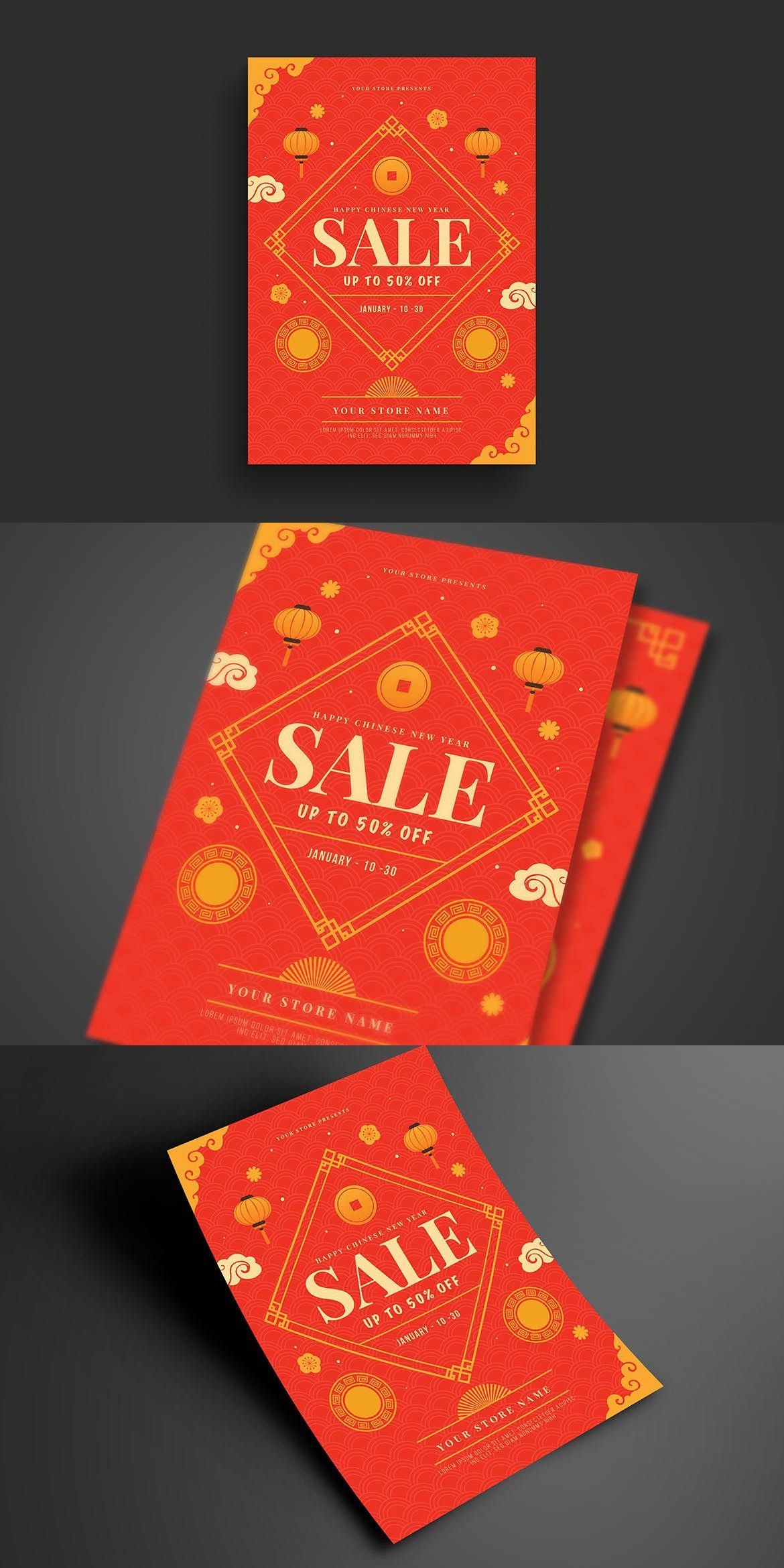 Chinese New Year Sale Flyer Sale flyer, Flyer, Print