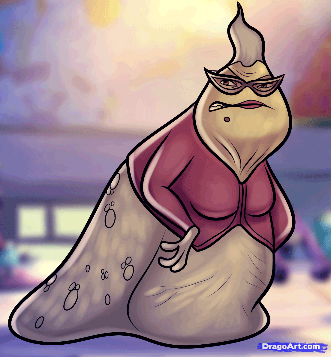 how to draw roz, roz from monsters inc | Dragoart | Pinterest ...