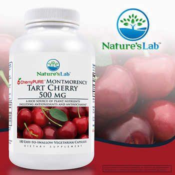 Nature S Lab Cherrypure Tart Cherry 500 Mg 180 Vegetarian