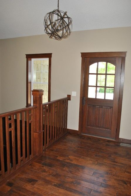 Foyer / Front entry. Wide plank floors.   Gregorich House - C&M Properties and Construction. www.candmhomebuilders.com Eau Claire, Wisconsin