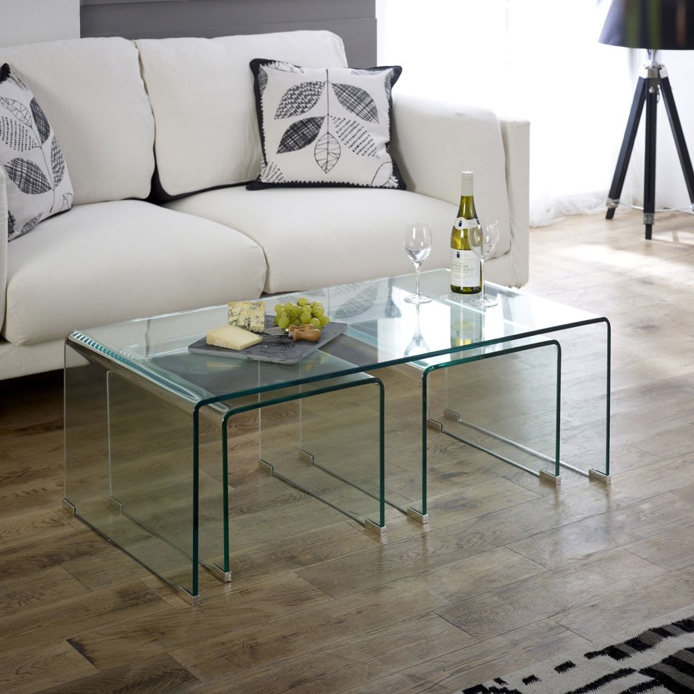 Luxury Living Room with Glass Coffee Table