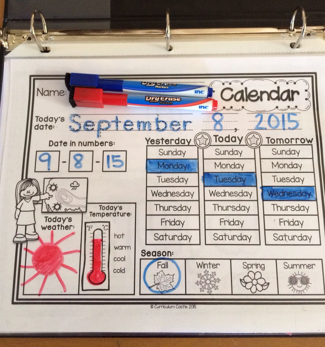 Classroom Calendar Amp Interactive Journal Rainbow Dots