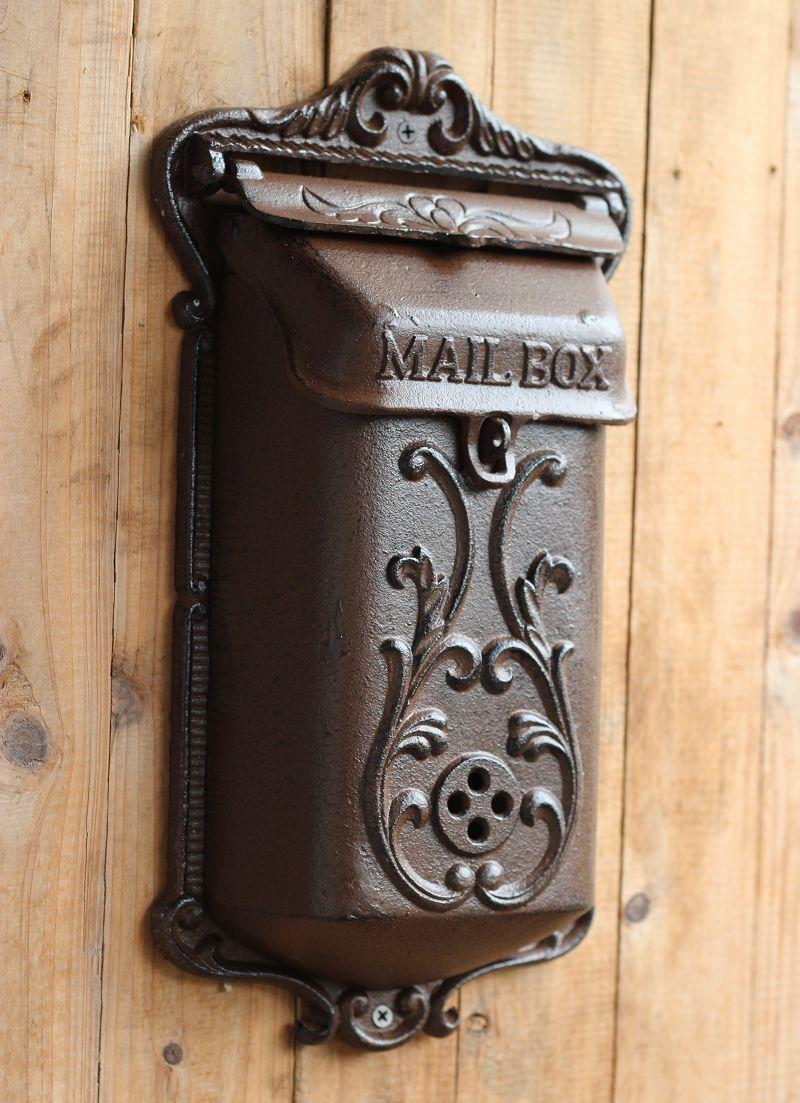 Vintage Fashion Iron Mailbox Pillar Box Wrought Iron