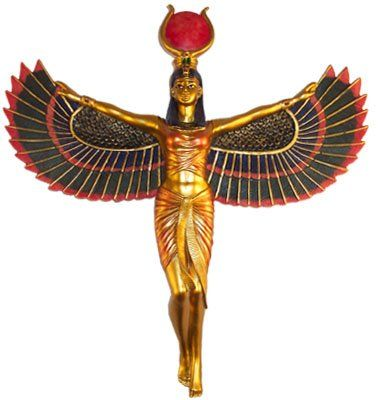 Winged Isis Egyptian Goddess Wall Hanging Deity Goddess Isis In