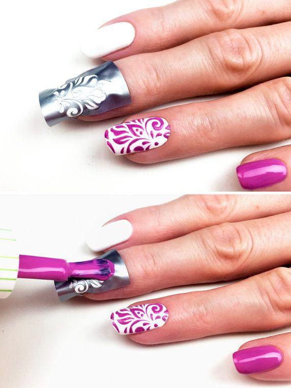 Lily pattern Nail Art Stencils incredible nail art by Unail | Beauty ...