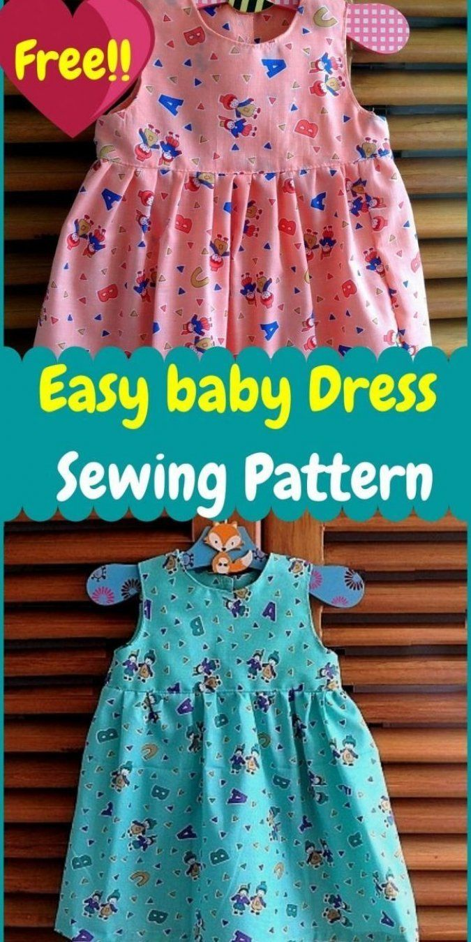 Learn how to sew a baby girl dress with this easy sewing pattern. This