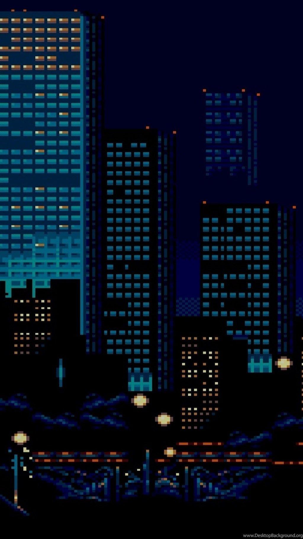 Acceptable 8 Bit Iphone Wallpaper Pixel City Pixel Art Art Wallpaper