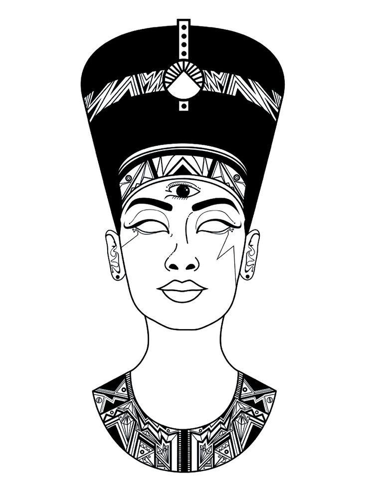 Black Nefertiti Drawing : black, nefertiti, drawing