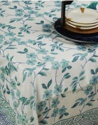 Add a celebratory touch to your dining with this hand block printed chanderi table cover. The elegant floral pattern in soothing tonal colours give it a distinct look