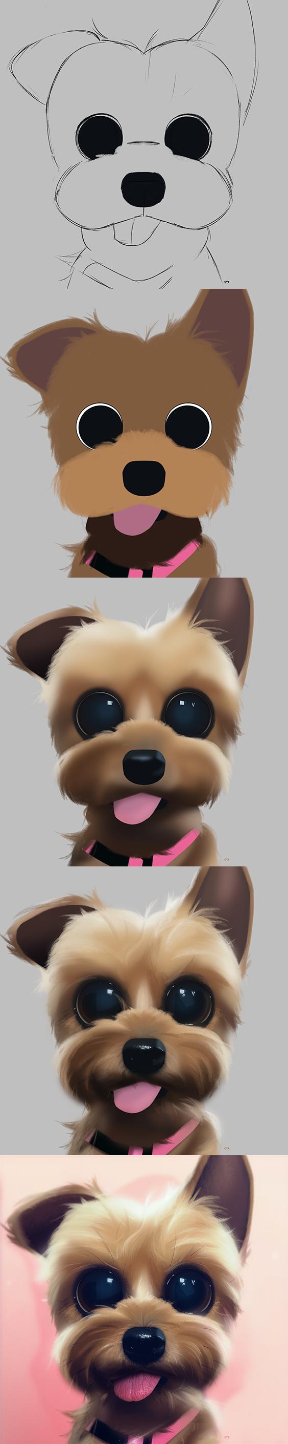 Cartoon Dog Eyes : cartoon, Cartoon,, Portrait,, Digital, Drawing,, Painting,, Character, Design,, Eyes,, Cute,, Illustra…, Design