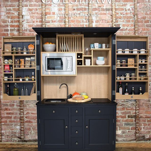 Best Culshaw Kitchenette In Farrow And Ball Off Black Paint 640 x 480
