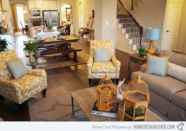 15 Fab Living Room Designs with Yellow Accent | Yellow accents ...