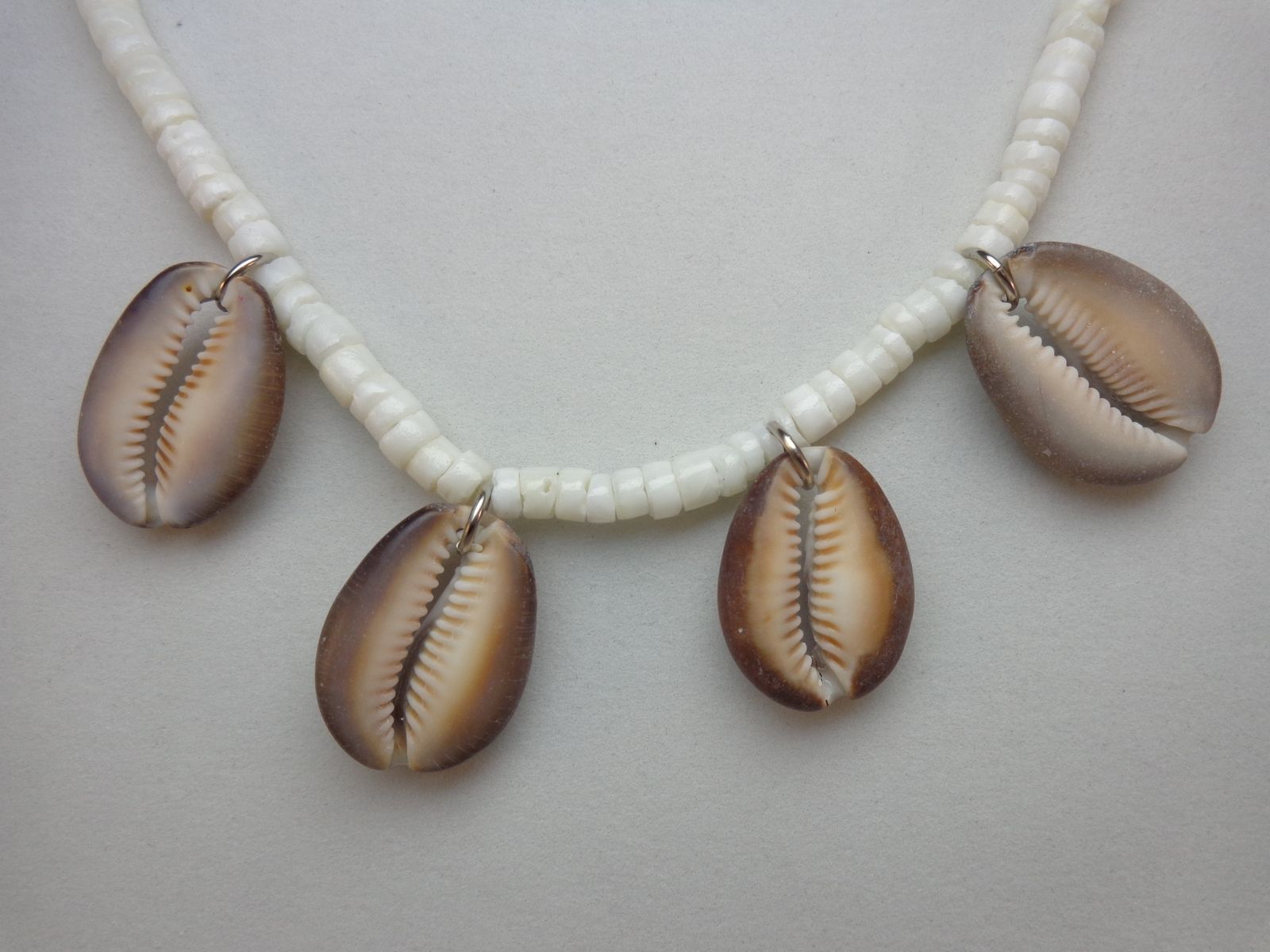 Hand Crafted Cowrie Shell Necklace, Mens Or Womens Jewelry By