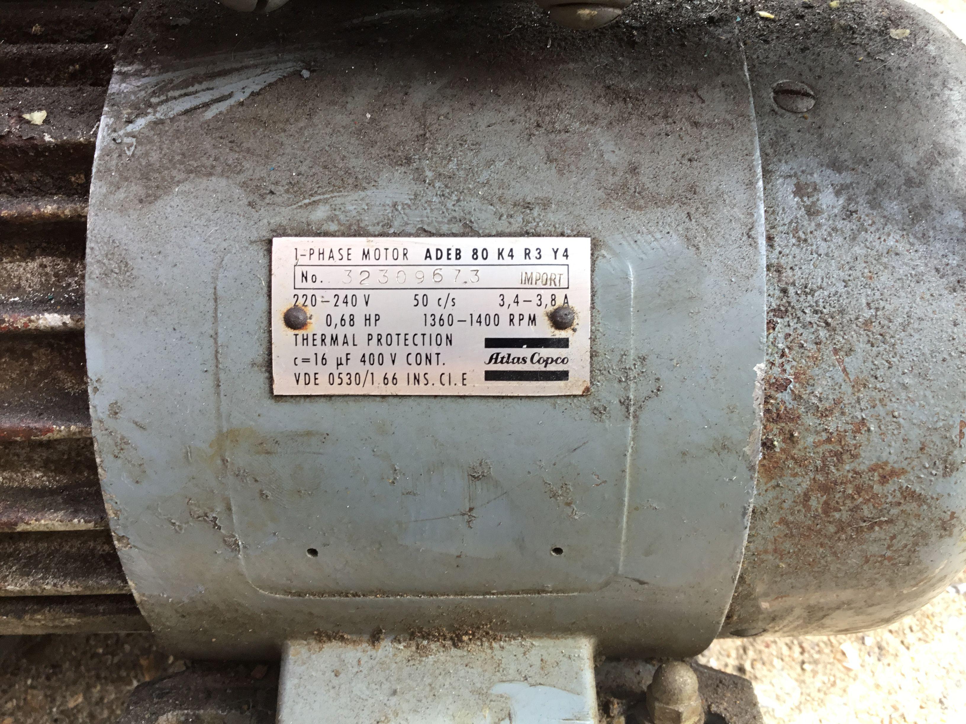 Atlas Copco Air Compressor Thermal protectant, Air