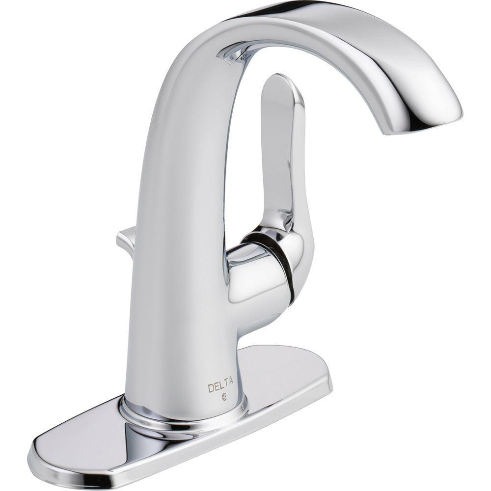 Delta Soline Single Hole Single Handle Bathroom Faucet In Chrome