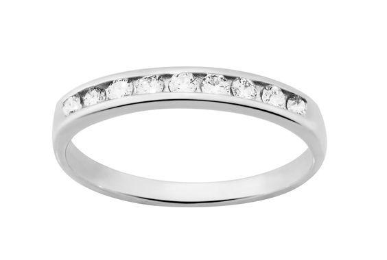 diamantor bague or blanc