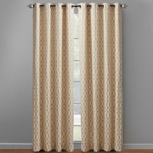 """One of my favorite discoveries at ChristmasTreeShops.com: 84"""" Yellow Caitlin Geo Grommet Window Curtains, Set of 2"""