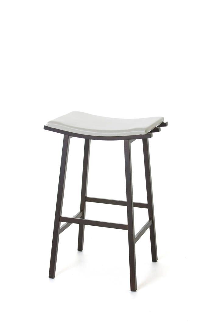Amisco S Nathan Backless Saddle Stool Is Perfect For Small Es That Need A Contemporary Touch Enjoy Free Shipping And No Tax From Barstool Comforts