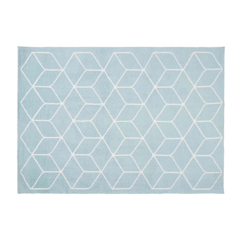 Textile | Modern Design | Tapis bleu, Tapis graphique et Tapis coton