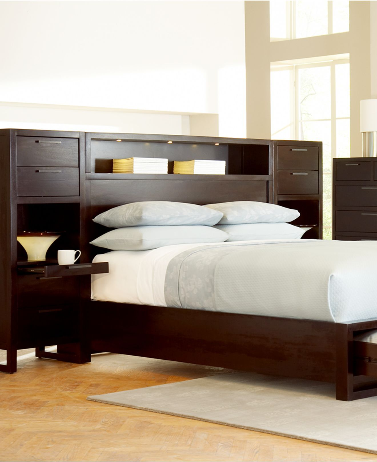 Tahoe Noir Wall Bedroom Furniture Sets & Pieces - Bedroom ...