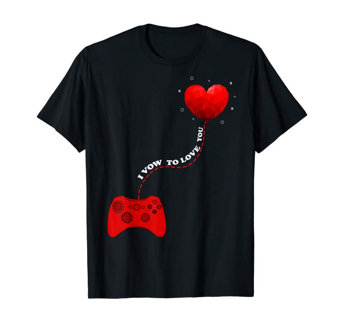 Amazon.com: Controller gamer heart gift valentine's Day gift T-Shirt: Clothing
