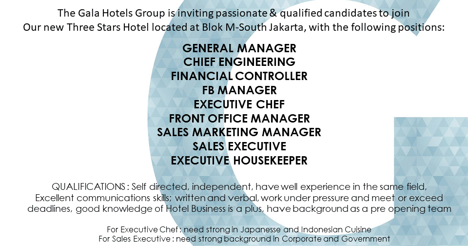 Gm For Swissbel Hotel Feb Jobs News HttpsGooGlWHeej  Hot