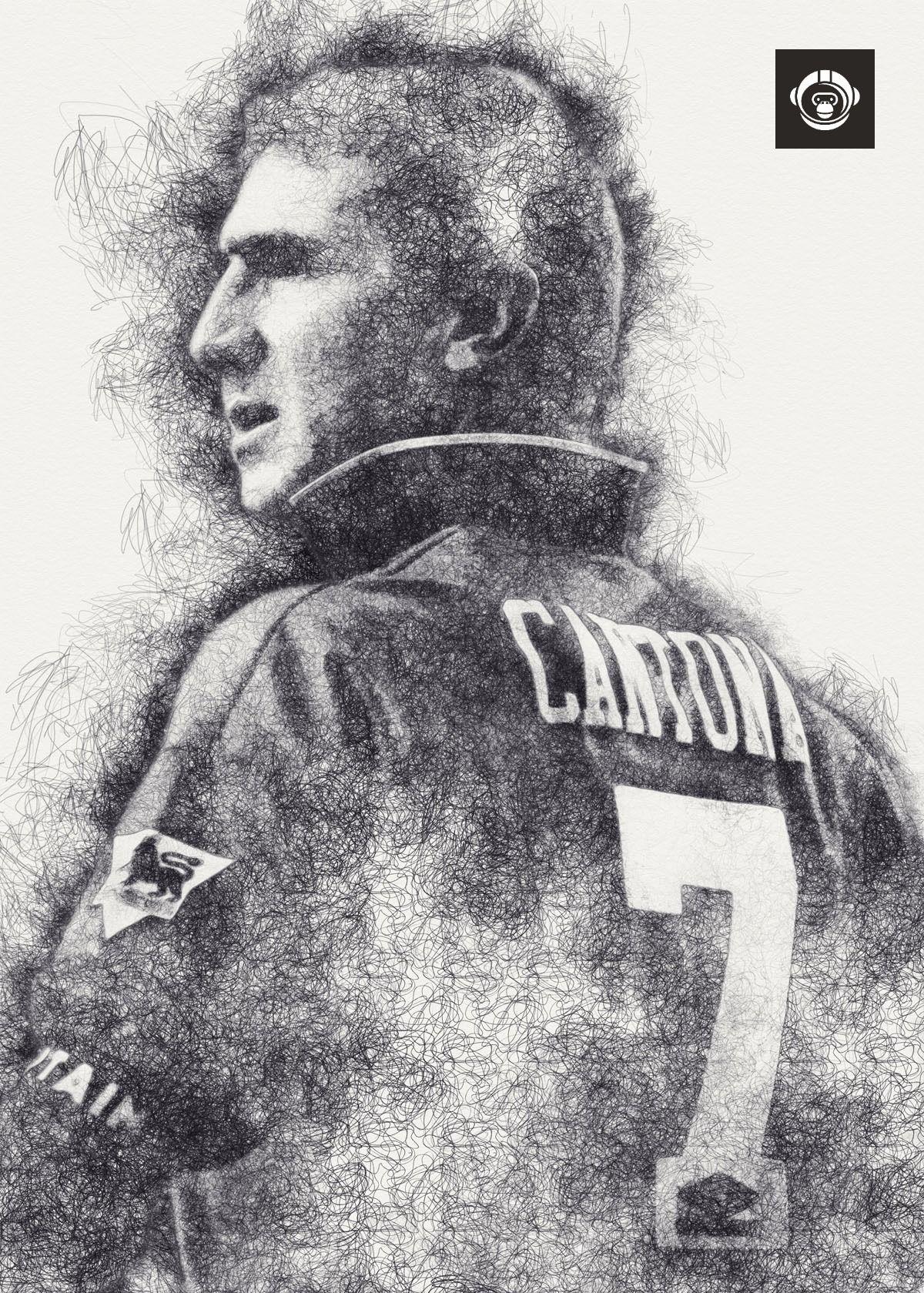 Wallpaper eric cantona puzzle (18 x 24 (500 pieces)) by sono sini. Eric Cantona | Eric cantona, Manchester united art ...