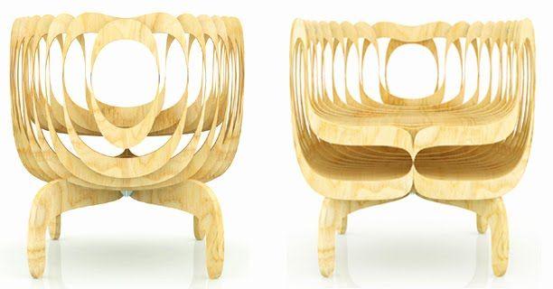 Cadeira Rapigattoli - Museu do Design em Milão