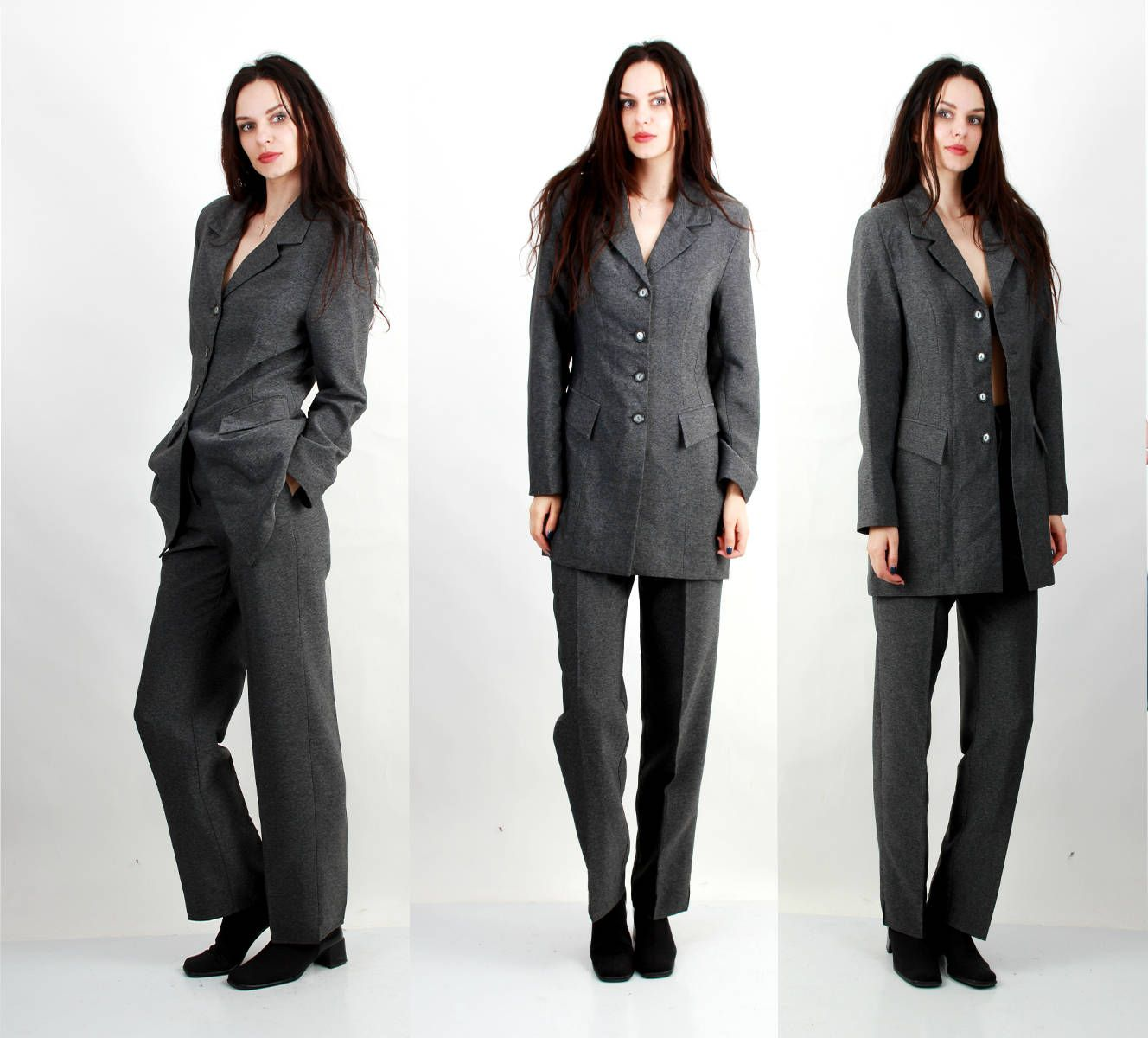 Vintage 80s Formal Suit Business Suit Two Pieces Outfit