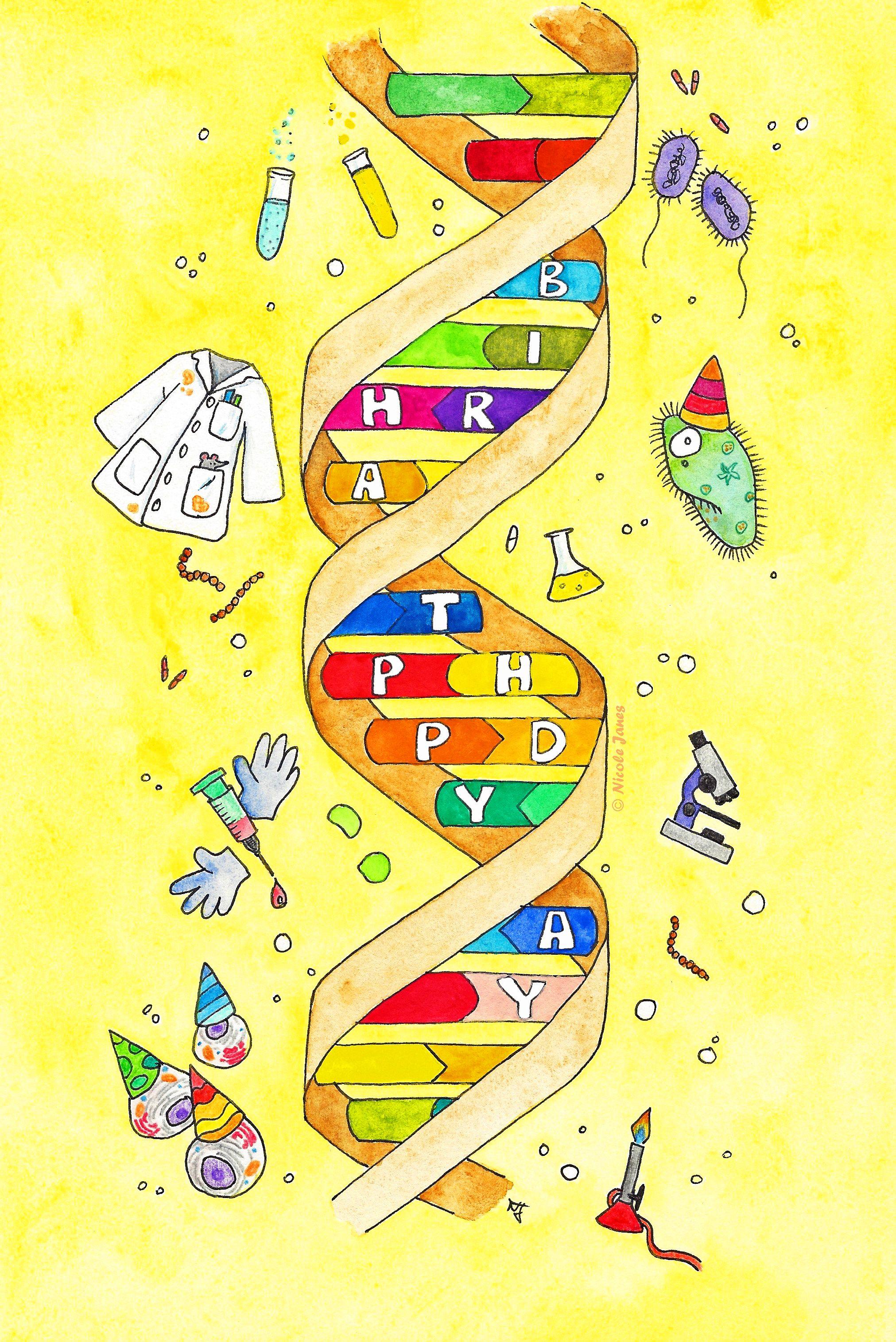 Happy Birthday Postcard For Science Nerds Birthdays Birthday