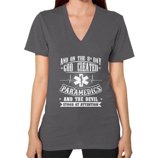 GOD CREATED Paramedic V-Neck (on woman)