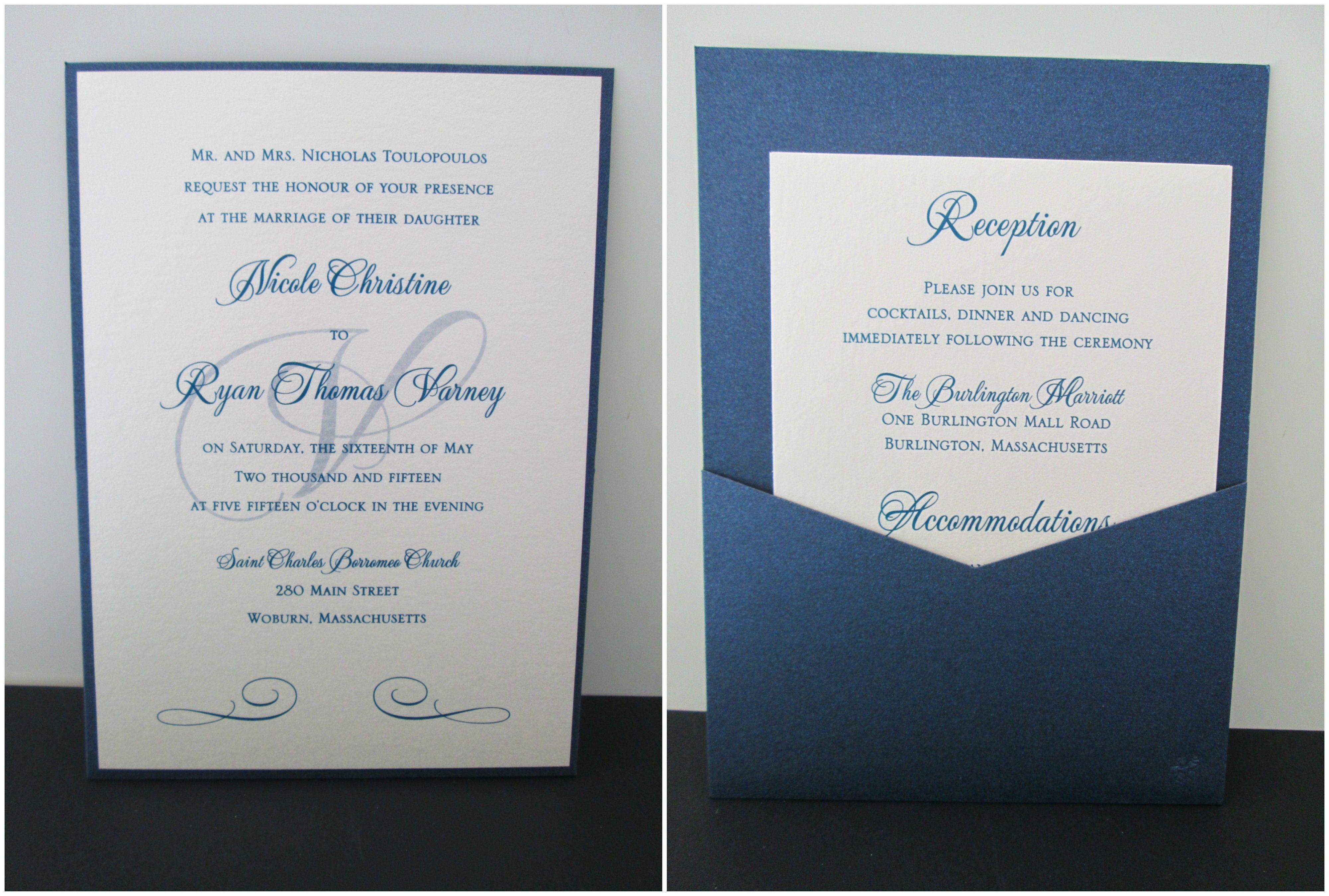 Nice Wedding Invitations Burlington Photos: Andrea Turquoise Themed ...