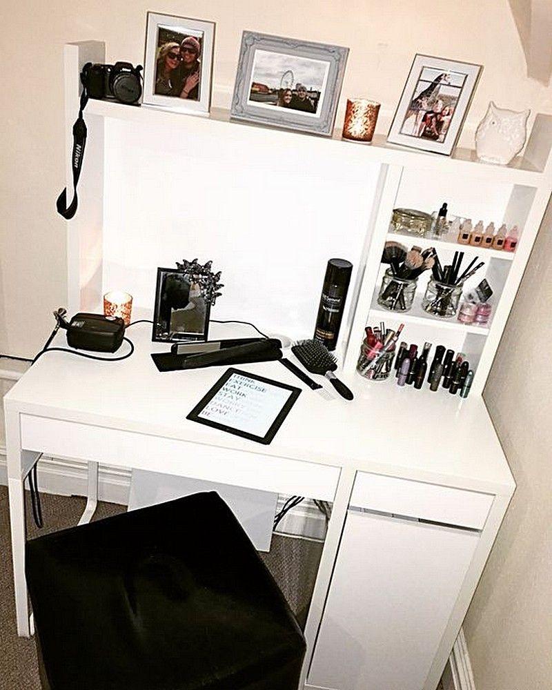 ikea micke workstation vanity desk with storage | semeya's room, Schlafzimmer entwurf
