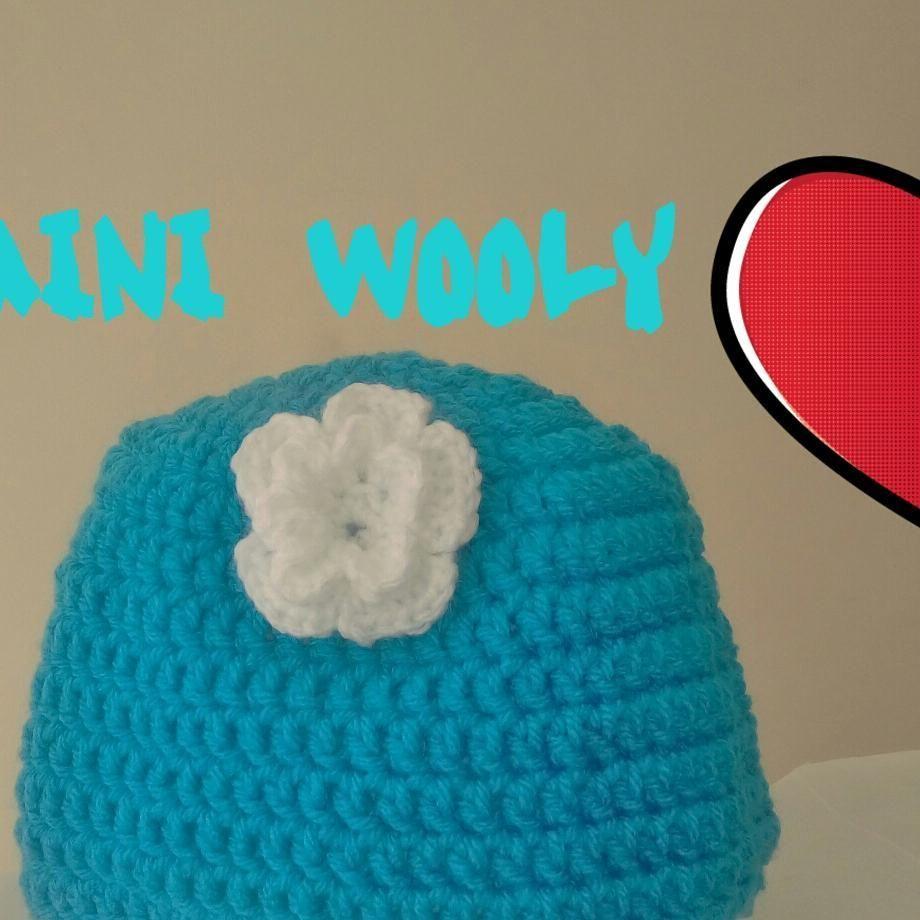 baby crochet hat with flower gorro de bebe en crochet con flor ...