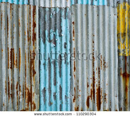 Corrugated Metal Wall Reclaimed Tin Corrugated Metal Wall