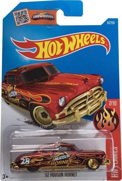 2016 hot wheels super treasure hunt 39 52 hudson hornet b case hot whee. Black Bedroom Furniture Sets. Home Design Ideas