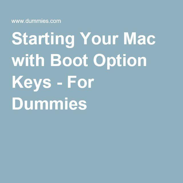 f25ea3c7039 Starting Your Mac with Boot Option Keys - For Dummies Keys, Mac, Unique Key