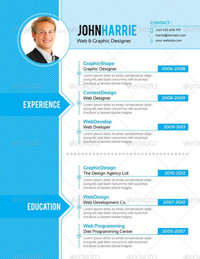 4 Pages Modern Clean Job Resume s Pinterest Job resume, Fonts