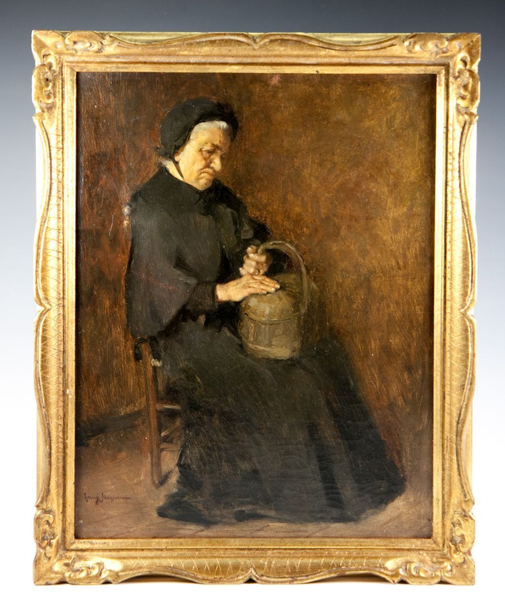 Henry Jacquier (1878-1921) Antique French Portrait in Oil Painting ...
