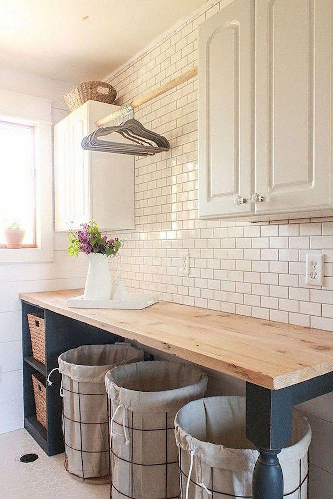 Photo of 53 Modern Farmhouse Laundry Room Decoration Ideas