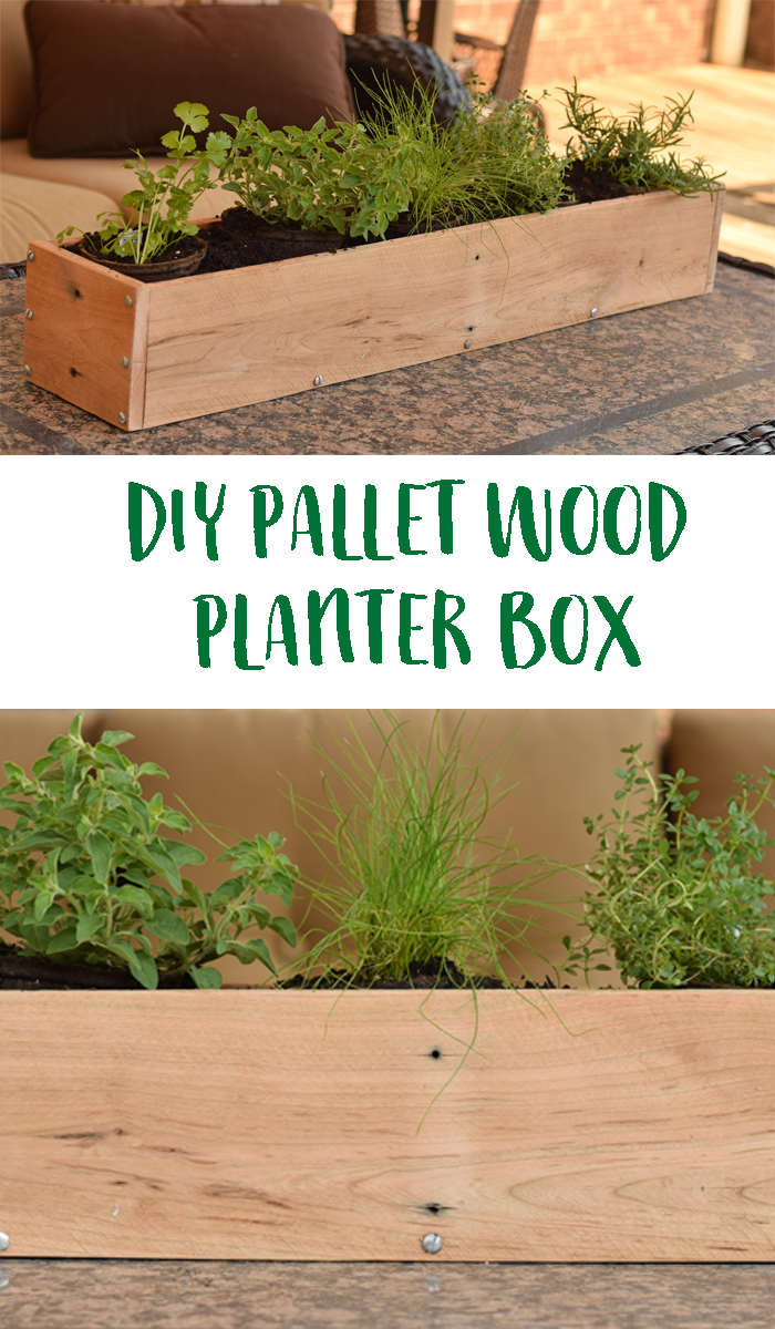 Diy Wood Pallet Planter Box Use Pallet Wood To Create This Simple