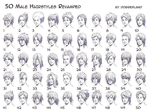 cabelos masculinos | Drawing | Pinterest | Male hair, Manga art ...