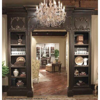 Habersham Doorway Solid Wood Library Bookcase | Perigold