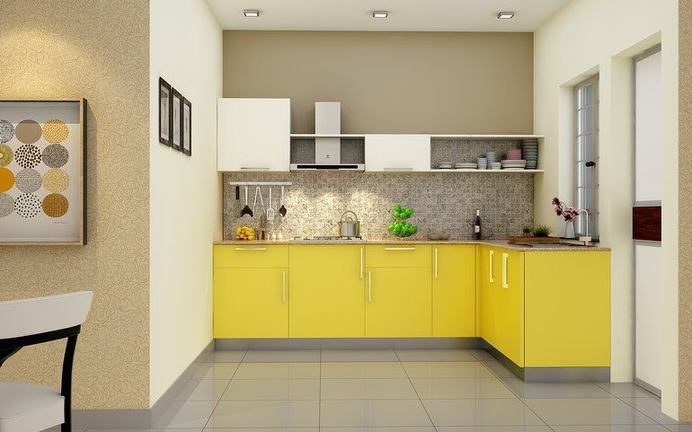 Buy Heron Elegant L Shaped Kitchen Online Best Price Homelane