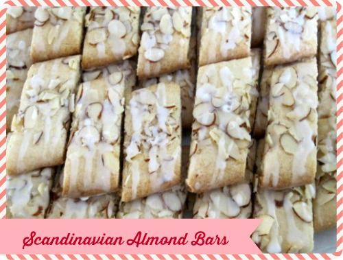 Scandinavian Almond Bars Moms Own Words Almond Bars Cookies Recipes Christmas Easy Christmas Cookie Recipes