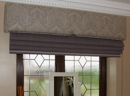Upholstered Pelmet With Roman Blind We Used A Tiny Houles